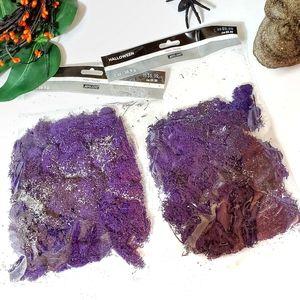 Halloween Purple Reindeer Glitter Moss Scary Projects Wreath Garland, 2 bags